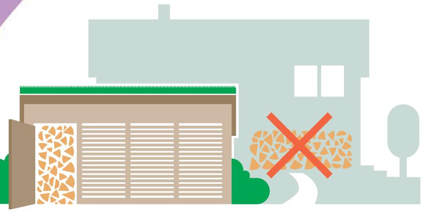 Säilytäthän puut kuivana tuulettuvassa puuvajassa. Puuta ei paloriskin takia saa varastoida talon seinustalla.