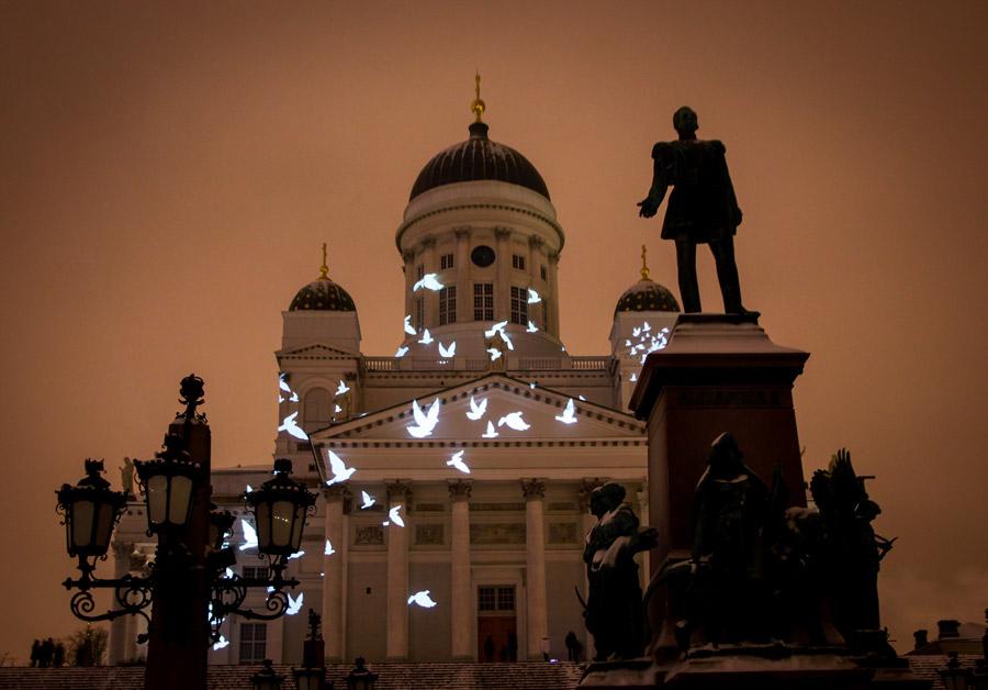 Senaatintori Lux-Helsinki -tapahtumassa.
